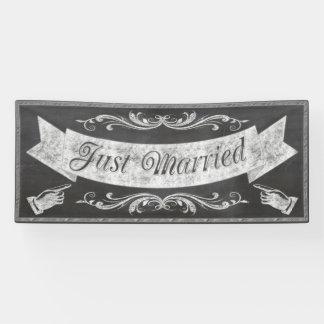 黒板の結婚式の旗CBWX 横断幕