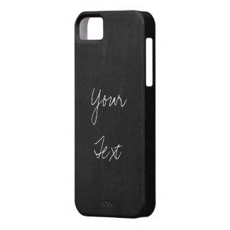 黒板の背景にあなたの文字を加えて下さい iPhone SE/5/5s ケース