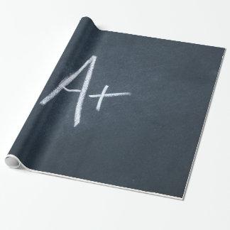 黒板の背景のチャコールグレーのチョークに文字を入れて下さい ラッピングペーパー