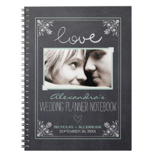 黒板の花嫁のウェディングプランナーのノート(ミント) ノートブック