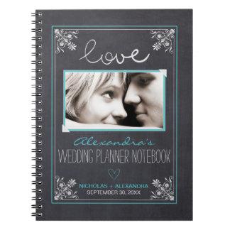 黒板の花嫁のウェディングプランナーのノート(水) ノートブック