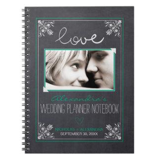 黒板の花嫁のウェディングプランナーのノート(緑) ノートブック