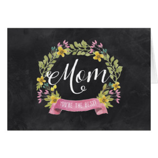 黒板の花模様|の母の日 グリーティングカード