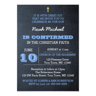 黒板の青い確認の招待状 カード
