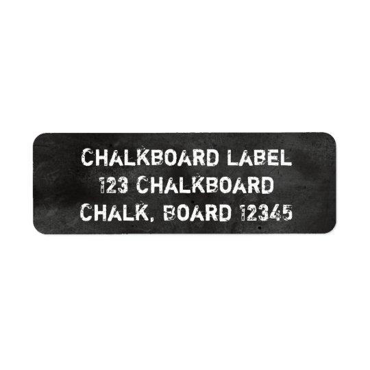 黒板の黒板の黒く及び白い挨りだらけ ラベル