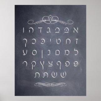 黒板のAlefの賭ポスター ポスター