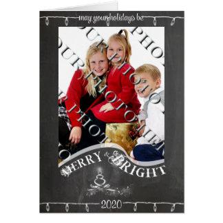 黒板はあなたの休日の写真のクリスマスよろしいです カード