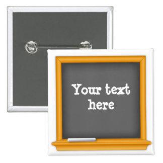 黒板は、あなたの文字をカスタマイズ 5.1CM 正方形バッジ