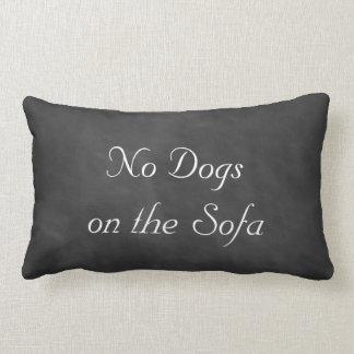 黒板ソファーの犬無し ランバークッション