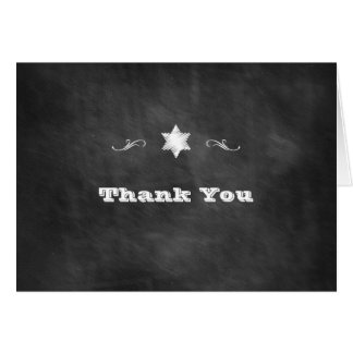 黒板バルミツワーは感謝していしています カード