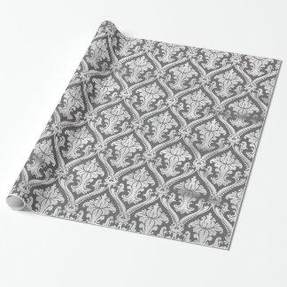 黒板パターンダマスク織 ラッピングペーパー
