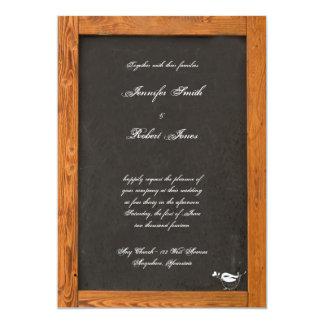 黒板愛鳥の結婚式招待状 カード