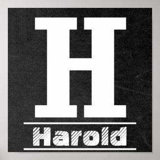 黒板最初のH  は個人化なります ポスター