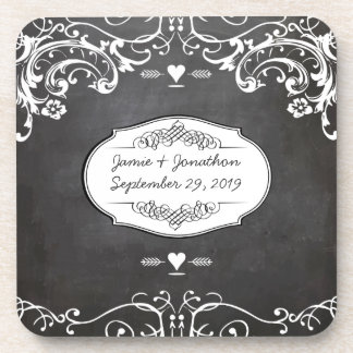 黒板|タイポグラフィ|結婚式 コースター
