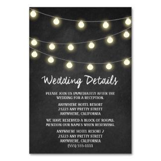 黒板 + ライト結婚披露宴の挿入物カード