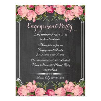 黒板、婚約party.ENGAGEMENT ポストカード