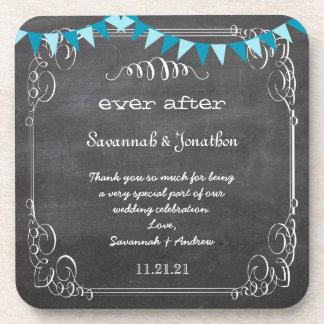 黒板|花嫁|及び|新郎|結婚|コースター 飲み物コースター
