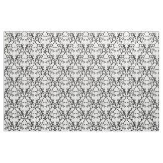 黒檀のアイボリーのパリのダマスク織パターン生地 ファブリック