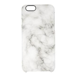 黒檀のアイボリーの大理石の白黒の大理石の石 クリアiPhone 6/6Sケース