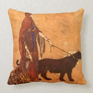 黒檀の島のエドマンドDulacのファインアートの女王 クッション