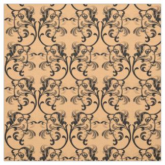 黒檀の珊瑚のパリのダマスク織パターン生地 ファブリック