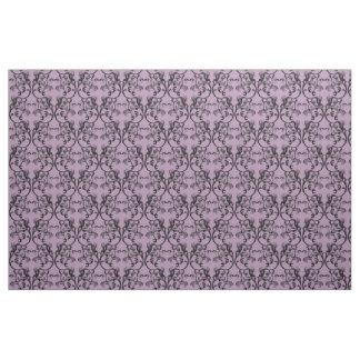 黒檀の紫色のパリのダマスク織パターン生地 ファブリック