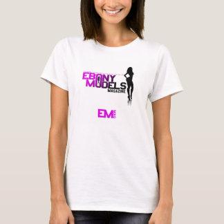 黒檀は女性のTシャツを模倣します Tシャツ