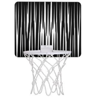 黒檀及びアイボリー(シマウマのストライプな抽象美術)の~ ミニバスケットボールゴール