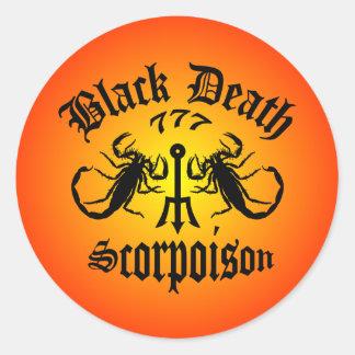 黒死病777 - Scorpoisonのウォッカ ラウンドシール