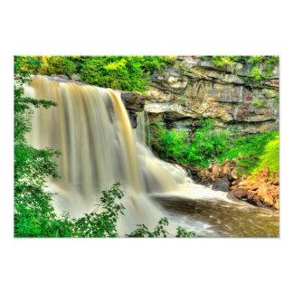 黒水熱の滝、ウェストヴァージニア フォトプリント