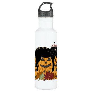 黒猫およびカボチャ ウォーターボトル