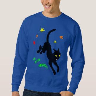 黒猫および魔法の星 スウェットシャツ