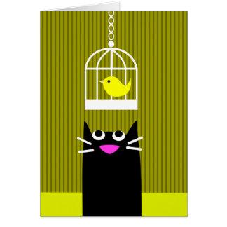 黒猫および黄色い鳥 カード