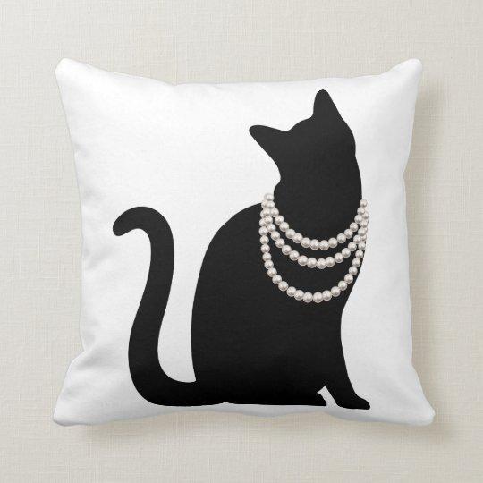 黒猫と宝石 クッション クッション