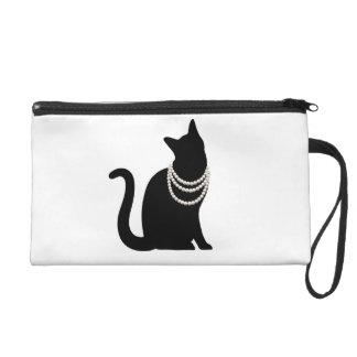 黒猫と宝石 リストレットバッグ リストレット