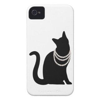 黒猫と宝石 iPhone 4/4S ケース