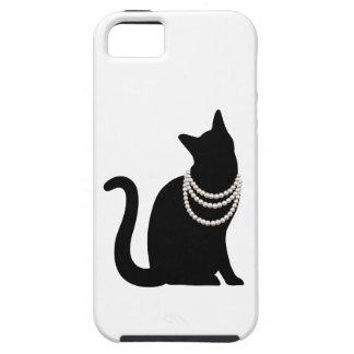 黒猫と宝石 iPhone 5 ケース
