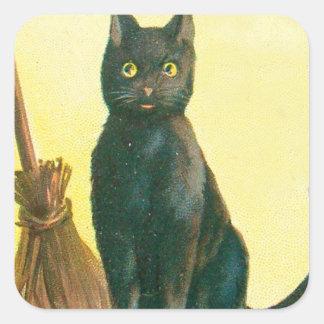 黒猫のほうき スクエアシール