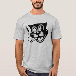 黒猫のまばたき Tシャツ