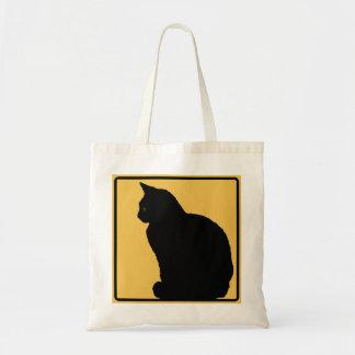 黒猫のオレンジ トートバッグ