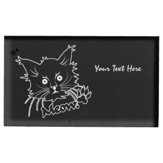 黒猫のカスタムなテーブルの帯出登録者 テーブルカードホルダー