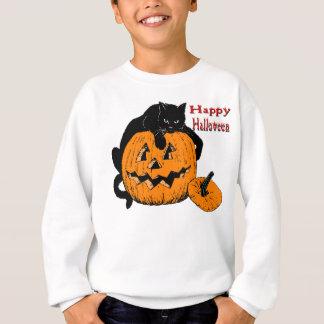 黒猫のカボチャ スウェットシャツ