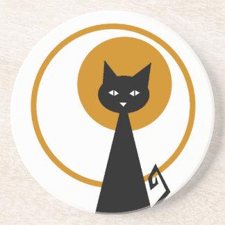 黒猫のコースター コースター