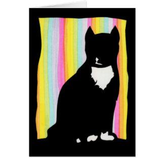 黒猫のシルエットの挨拶状 カード