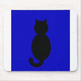黒猫のシルエット マウスパッド