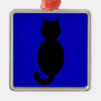 黒猫のシルエット メタルオーナメント