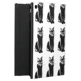 黒猫のシルエット iPad AIRケース