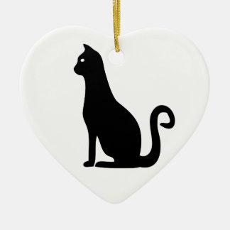 黒猫のデザイン セラミックオーナメント