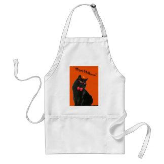 黒猫のハッピーハローウィンのエプロン スタンダードエプロン