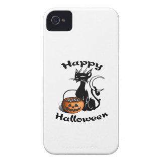 黒猫のハッピーハローウィン Case-Mate iPhone 4 ケース
